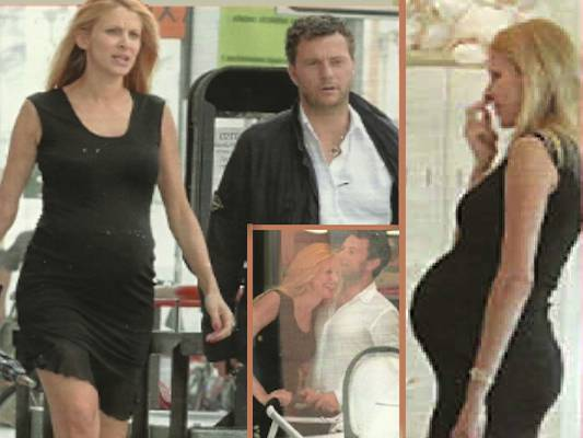 adriana volpe Adriana Volpe, incinta di 8 mesi, fa shopping col pancione   FOTO