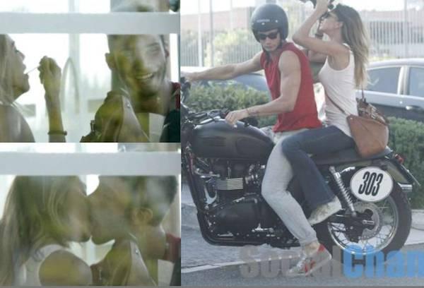 belen stefano baci Belen e Stefano: ecco i baci prima dellincidente in moto   FOTO