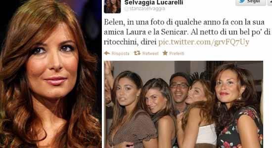 dddddddddd1 Selvaggia Lucarelli pubblica immagini di Belen Rodriguez prima della chirurgia plastica   Foto