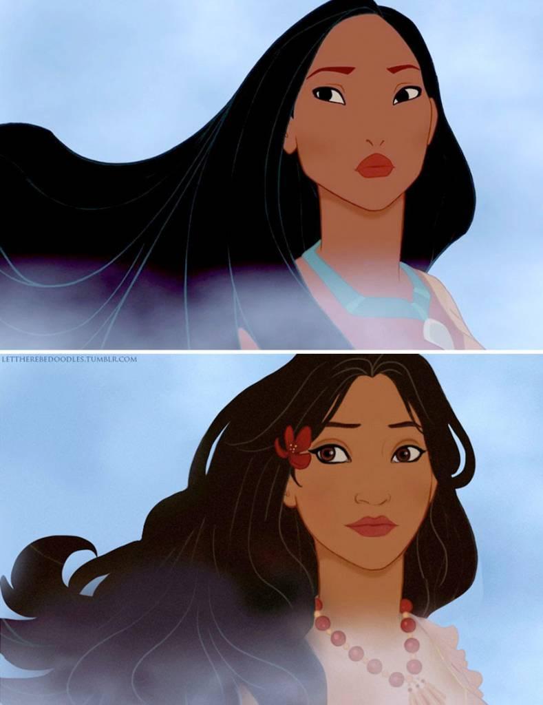 Principesse Disney Ecco Come Apparirebbero Con Unetnia Diversa
