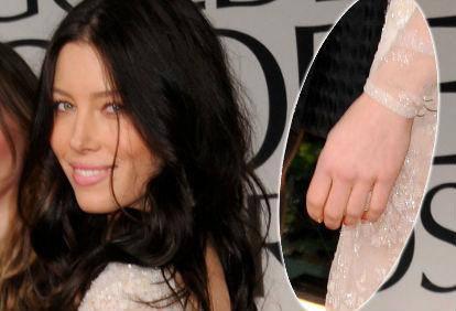 Jessica biel senza anello golden globe7 for Anelli di fidanzamento famosi