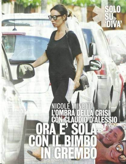 Nicole Minetti incinta