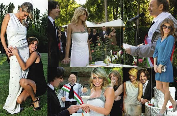 Matrimonio Tema Vasco Rossi : Maddalena corvaglia le foto del matrimonio con elisabetta