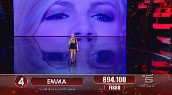 ok8 Amici 11: Emma Marrone con slip in vista   Foto