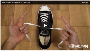 allacciarsi le scarpe in un secondo